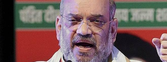 Amit Shah visits family of slain SI