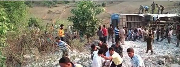 Five killed, 40 injured as bus falls into gorge in Jharkhand