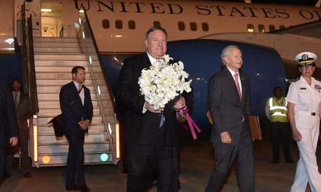 Pompeo arrives India amid irritants over Indo-Russia arms deal