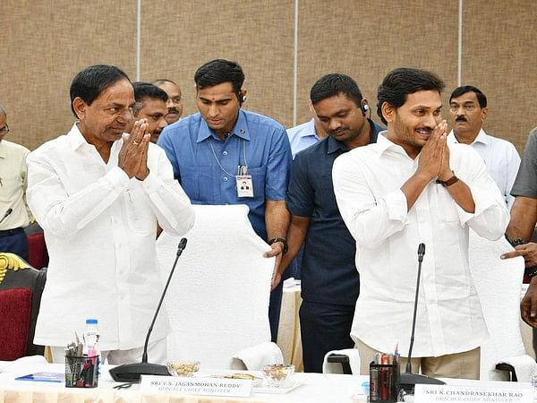 High level meeting of the officials from Telangana, AP