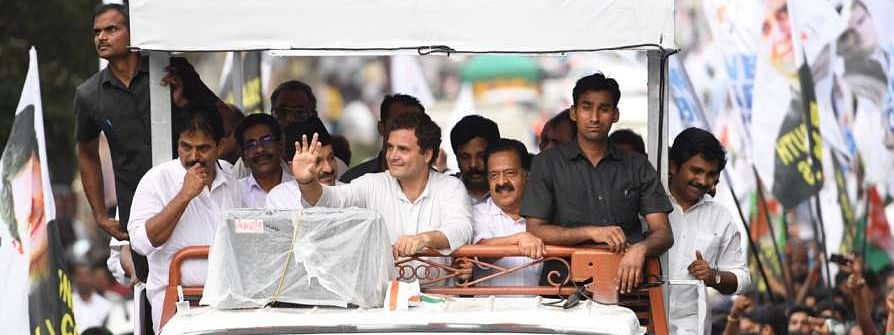Rahul participates in road show at Pulpally