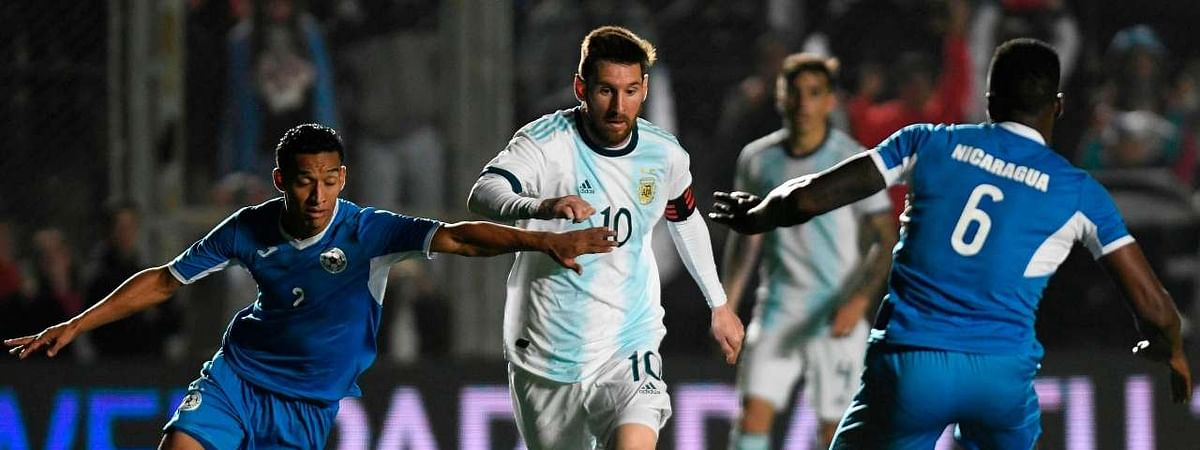 Messi brace helps Argentina to 5-1 win over Nicaragua