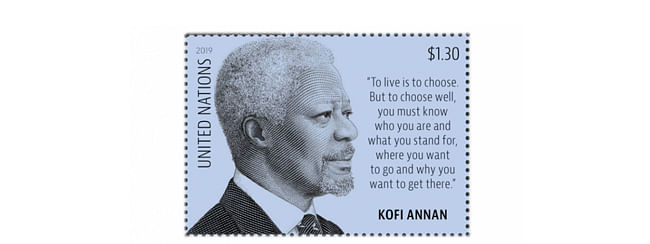 UN pays tribute to Kofi Annan with stamp