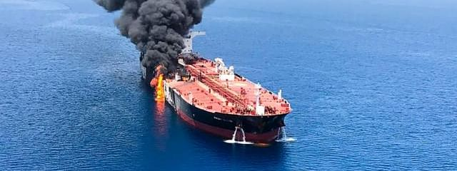 Trump blames Iran for tanker attacks