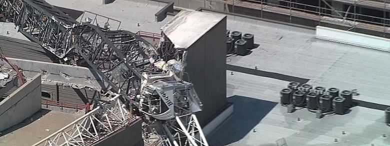 One killed, 6 injured as crane falls on building in Texas