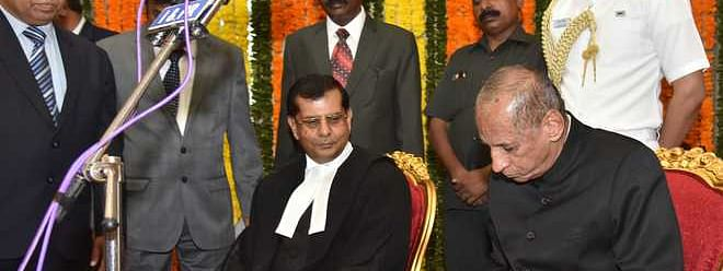 Justice Chauhan takes oath as Chief Justice of Telangana High Court