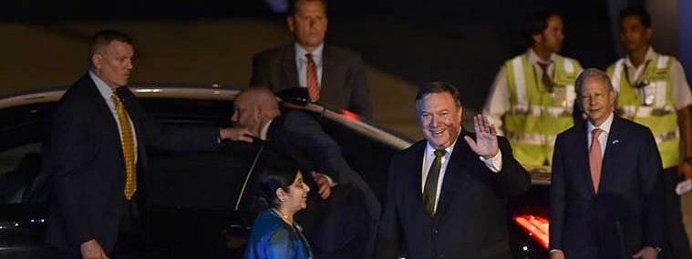 Mike Pompeo arrives in New Delhi on Tuesday