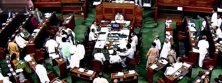 LS: Opp walks out demanding PM's response to Trump remarks