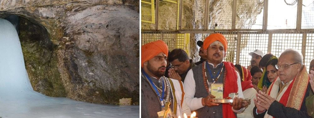Governor pays obeisance at Holy Cave