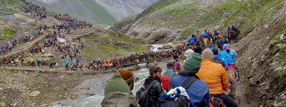 Amarnath yatra resumes after a day's break