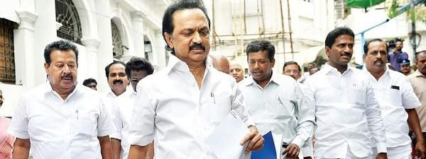 DMK stages walk out from TN Assembly