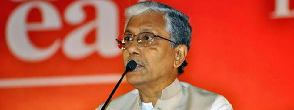 Manik lashed out at BJP's rule in Tripura