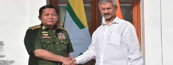 Jaishankar meets Myanmar army chief