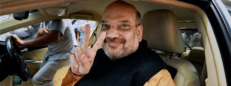 Amit Shah arrives on first Gujarat visit after becoming HM