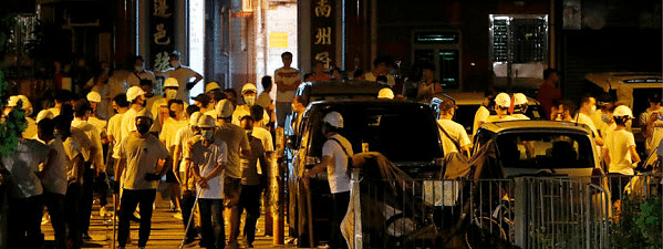 Nearly 45 injured as rod-wielding mob storms Hong Kong railway station