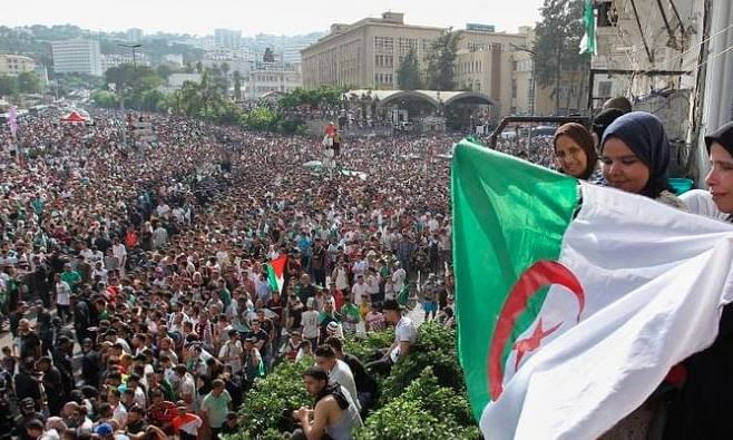 Algerian soccer team celebrates AFCON win with fans
