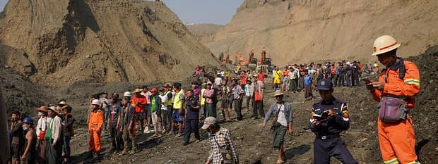 Myanmar mine collapses: One rescued, four missing