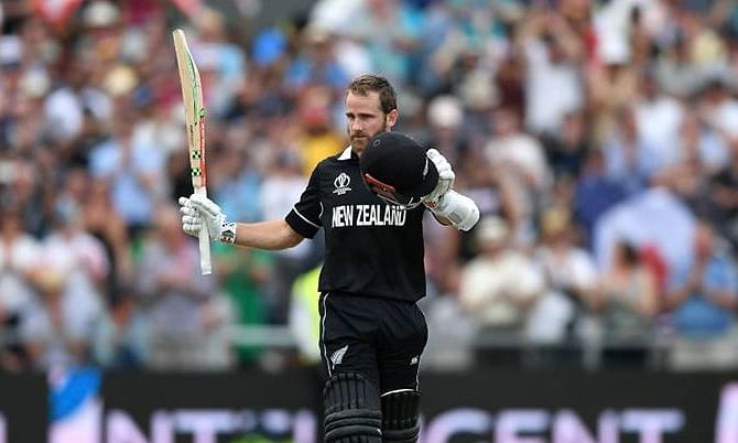Kane Williamson falls