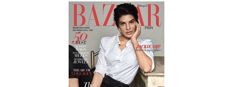 Jacqueline Fernandez shines on July cover of 'Bazaar' magazine