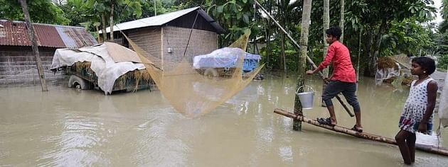 Assam flood: Over 50 lakh hit; Union minister reviews situation