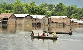 Flood waters recede in Assam
