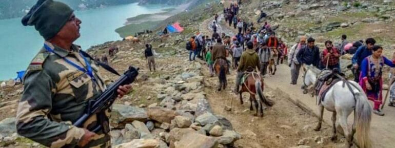 Amarnath Yatra curtailed in view of security reasons