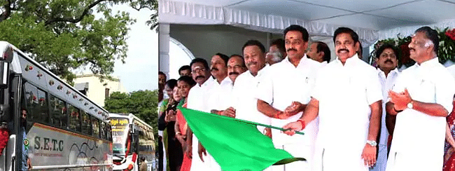 Palaniswami flags off 500 new buses