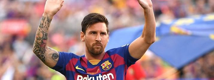 Messi to miss Barcelona's US trip due to  calf strain