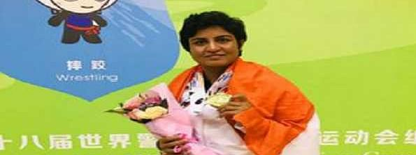 Geetika Jakhar bags gold in World Police Games