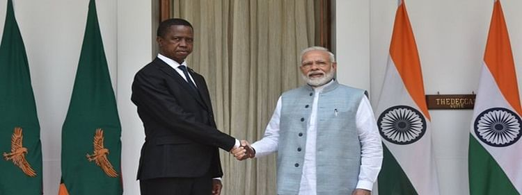 PM Modi holds bilateral talks with Zambian President