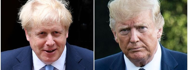 Johnson discusses Brexit, trade issues with Trump