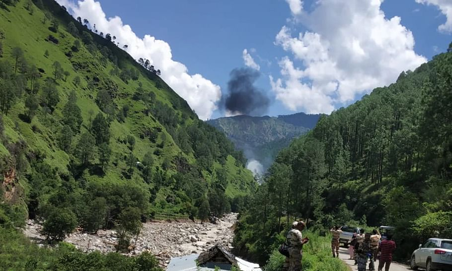Three dead as chopper carrying relief material crashes in Uttarakhand