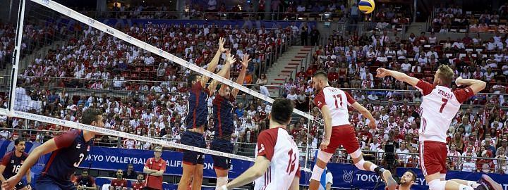 Poland win in Olympic men's volleyball qualifiers