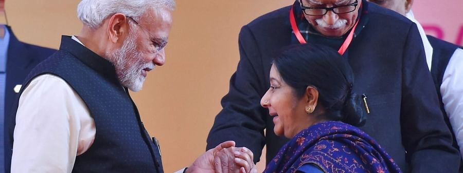 End of a glorious chapter in Indian politics, says PM on Sushma's death