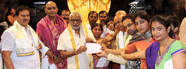 Hyderabadi devotee donates Rs 1.11 cr to TTDs anna prasadam trust
