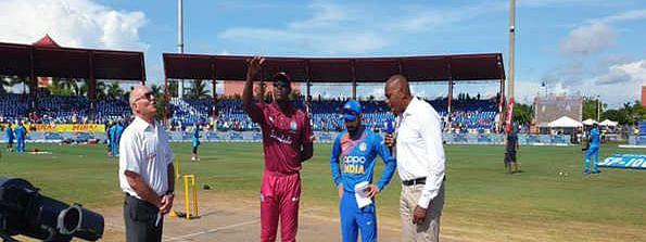 1st T20: India win toss, opt to field against Windies