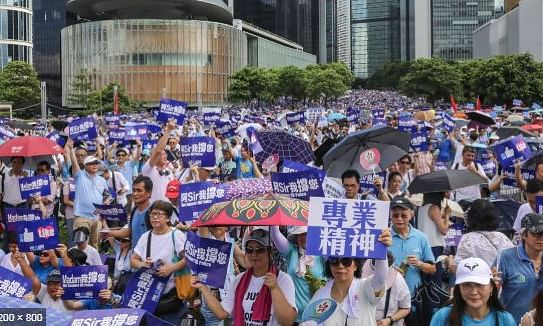 Hong Kong braces for huge rally as China condemns US