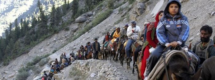 Kashmir alert on pilgrims, yatras cancelled