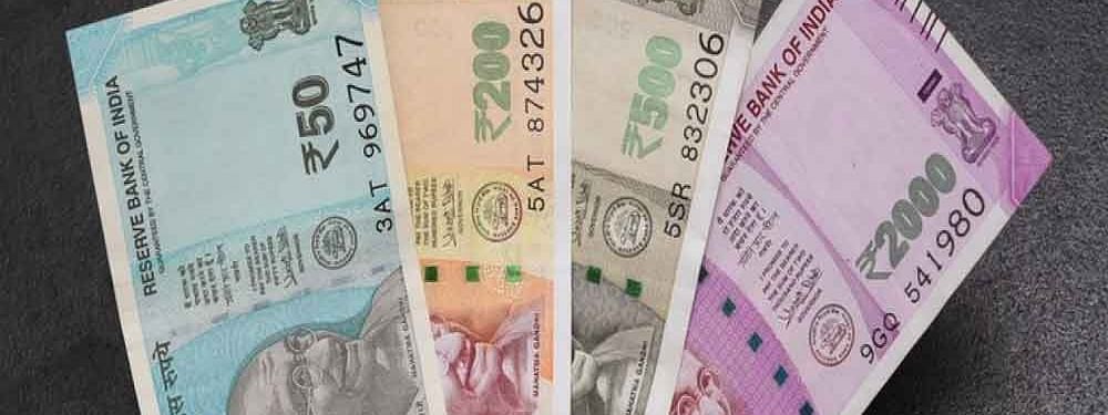 Rupee up by 56 paise against USD