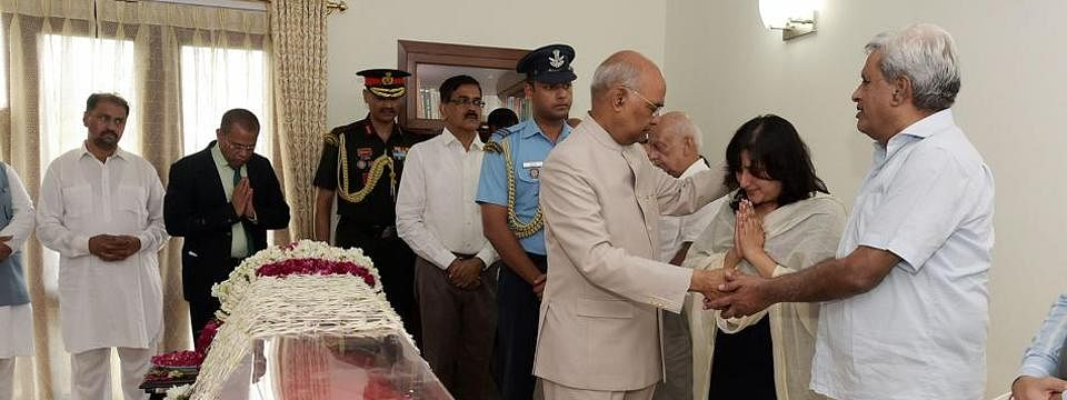 Prez, top leaders pay homage to Sushma