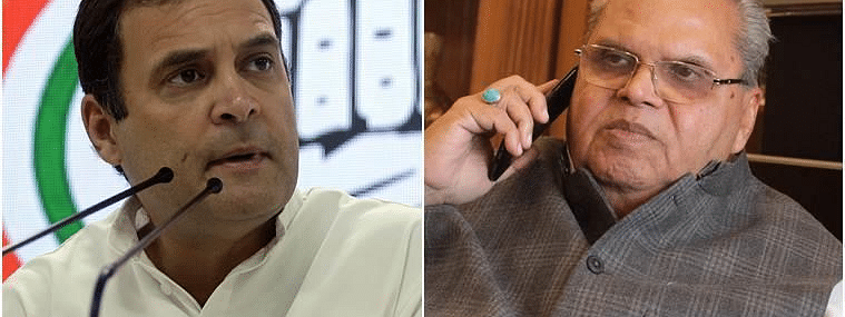 Accepted Malik's invitation to J&K with 'no conditions': Rahul