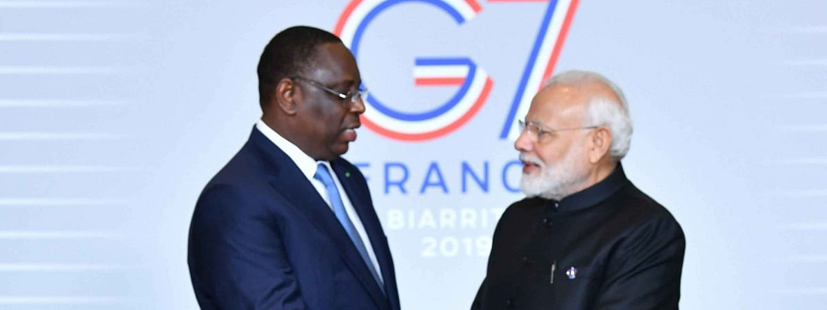 PM Modi meets Senegal Prez on sidelines of the G7 Summit