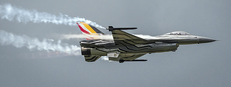 Belgian F-16 crashes in France, both pilots eject