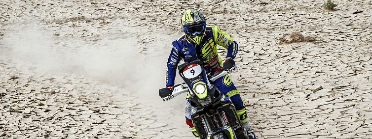Sherco TVS Rally Factory Team's Adrien Metge finishes second