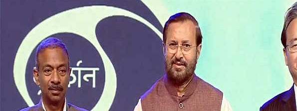 DD completes 60 glorious yrs; Javadekar releases postal stamp