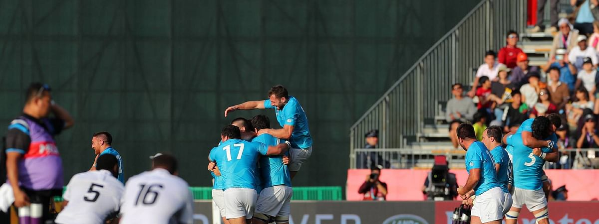 Uruguay shock Rugby World Cup with famous win over Fiji