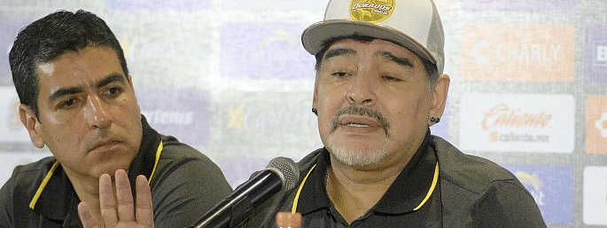 Maradona 'giving everything' to keep Gimnasia in top flight