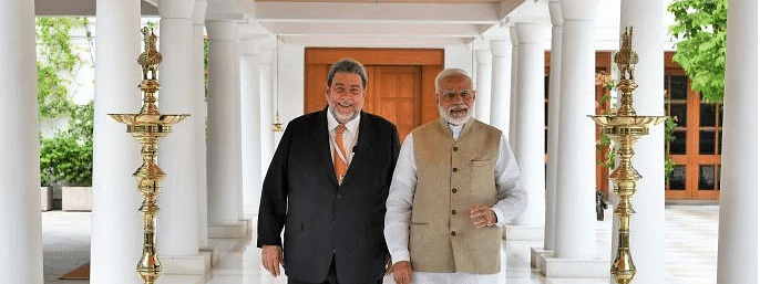 PM Modi meets PM of St Vincent and Grenadines