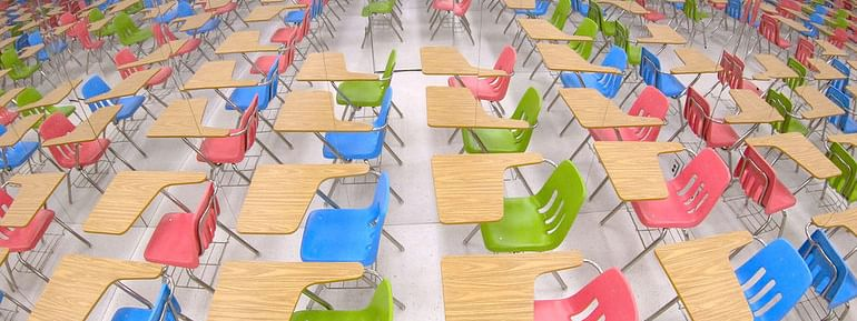 Mirrored classroom highlights education crisis