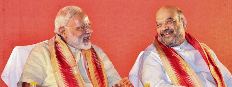 PM, Amit Shah greets people on Navratra